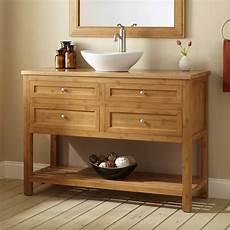 48 quot narrow depth alcott bamboo vessel sink vanity bathroom