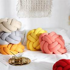 Sofa Pillows Solid 3d Image by Adeeing Simple Solid Color Knotted Throw Pillow For Sofa