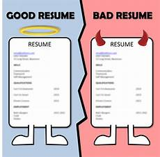 Bad Resume Example Good Vs Bad Resume Morawa Ag School