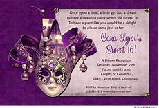 Masquerade Invitations For Sweet 16 Sweet 16 Birthday Invitations Free Templates Free