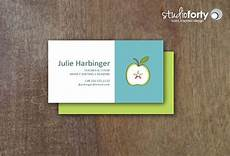 Apple Business Card Template 56 Teachers Business Cards Ai Ms Word Publisher