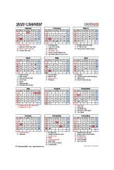 2020 calendar templates with holidays 2020 calendar free printable templates