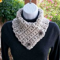 neck warmer scarf white tweed handmade crochet knit