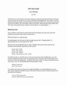 Apa Style Lists Apa Format For Reference Page Apa Turn Over For A