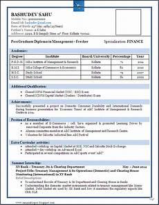 Curriculum Vitae Samples For Freshers Best Resume Format For Freshers Cv Pinterest Resume