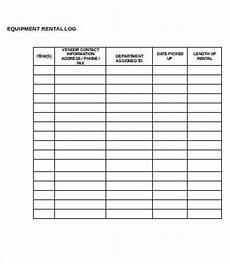 Equipment Maintenance Log Template Excel Equipment Log Template 9 Free Word Excel Pdf Format