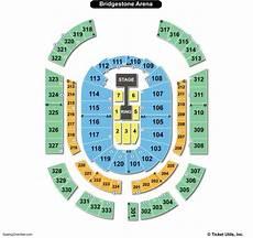 Bridgestone Arena Seating Chart Seating Charts Amp Tickets