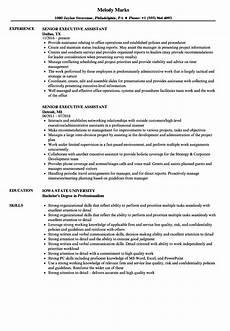 Senior Executive Assistant Job Description Senior Administrative Assistant Resume Example