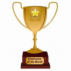 Employee Of The Month Award Employee Of The Month Award Golden Trophy Statuette
