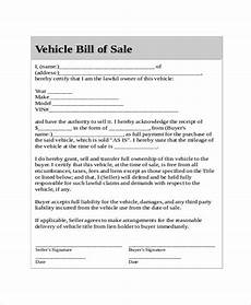 Bill Of Sale For Car Sale Generic Bill Of Sale Template 17 Free Word Pdf