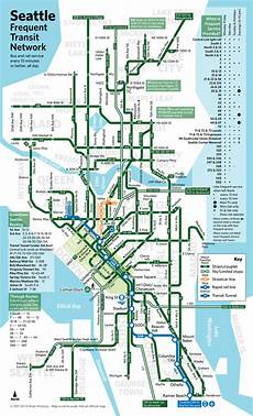 Colombo Light Rail Route Map Seattle Frequent Transit Network Transcommunication