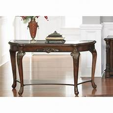 accent sofa console table wood cherry finish