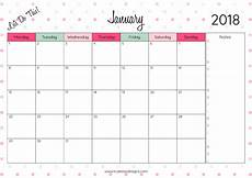 Calendars Printable 2018 Monthly Printable Calendar Let S Do This True