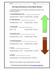 Stock Market Worksheet Stock Market Worksheets For Middle School Forex Watchers