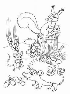Malvorlagen Herbst Igel Autumn Coloring Pages For Free Color Pages 3