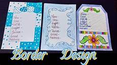 Good Front Page Design Front Page Decorations Idea Border Design For School