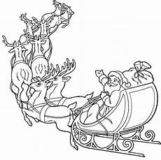santa claus and reindeer coloring pages santa coloring
