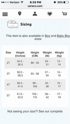 Carters Shoe Chart Carters Toddler Size Chart Toddler Size Chart Rockabye