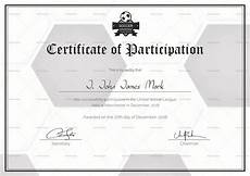 Soccer Certificate Templates For Word Soccer Participation Certificate Design Template In Psd Word