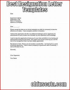 Best Letters Of Resignation Best Resignation Letter Templates