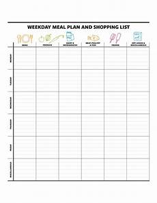 Meal Planning Template Free 40 Weekly Meal Planning Templates Template Lab