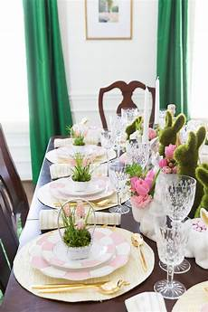 kitchen table setting ideas easter table decorations place setting ideas pizzazzerie