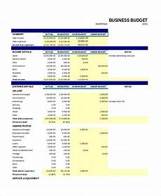 Monthly Business Budget 30 Excel Monthly Budget Templates Word Excel Pages