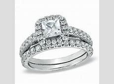 1 3/4 CT. T.W. Princess Cut Diamond Frame Bridal Set in