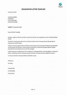Resignation Letter Layout Sample Resignation Letter Templates At