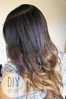 Dark Brown Hair Dip Dyed Light Brown Kaka Ka Tch Up Dip Dye Hair Nails And Lippies Kaka