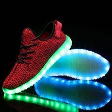 Nike With Light Shoes Bright Led Light Up Trainers Red Kids Remote