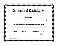 Free Printable Participation Certificates Certificate Of Participation Awards Certificates Templates