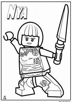 ninjago lego coloring pages nya ninjago ausmalbilder