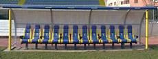 dimensioni panchina panchina allenatori calcio da 20 e 24 sedili sport