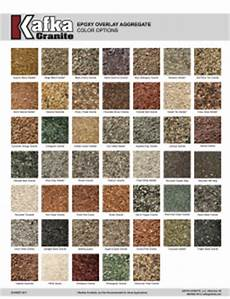Granite Color Chart Epoxy Overlay Aggregates For Roads Crosswalks Amp More