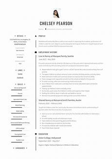Nanny Resume Templates Free Nanny Resume Amp Writing Guide 12 Template Samples Pdf