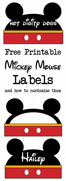 Mickey Mouse Printables Free Mickey Mouse Labels Free Printable Paper Trail Design