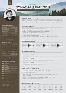 Modern Professional Resume Template Free Professional Modern Resume Cv Portfolio Page