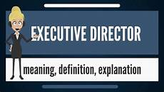 What Is A Sales Executive What Is Executive Director What Does Executive Director