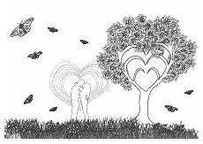 Ausmalbilder Erwachsene Liebe Baum Der Liebe Malvorlagen