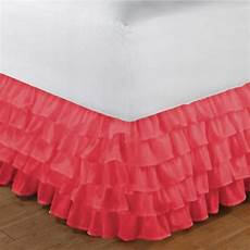 quot coral bedskirt and window valance quot