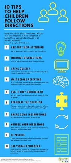 tips for following directions in the classroom child