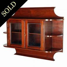 antique wall cabinet edwardian mahogany cabinet