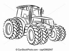 sketch large tractor sketch a large heavy tractor