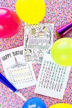 Photo Card Birthday Free Printable Birthday Cards For Kids Studio Diy