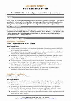 Resume Paper Target Sales Floor Team Leader Resume Samples Qwikresume