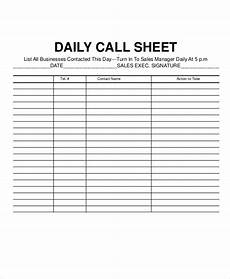 Call Sheet Template Excel Call Log Sheet Template 11 Free Word Pdf Excel