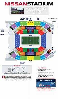 Titans Interactive Seating Chart Tennessee Titans Nissan Stadium Seating Chart