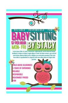 Babysitting Pamphlets Babysitting Flyer Templates Postermywall