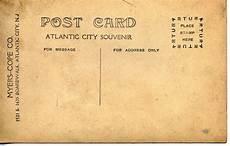 Old Postcard Template Do It Yourself Postcard Vintage Postcards Printable